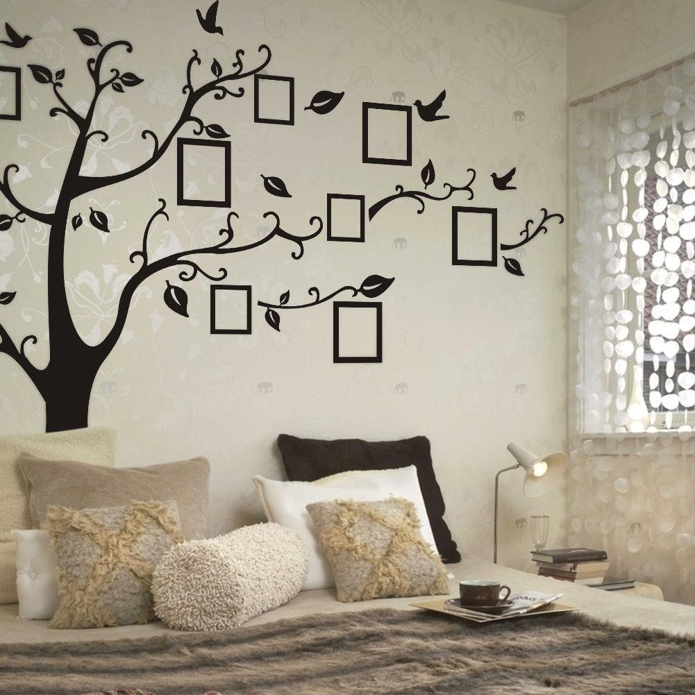 2020 Newest Hot DIY Family Photo Black Tree Removable Decal Room Wall Sticker Vinyl Art Hot DIY Decor Home Family PVC 70 X 120cm
