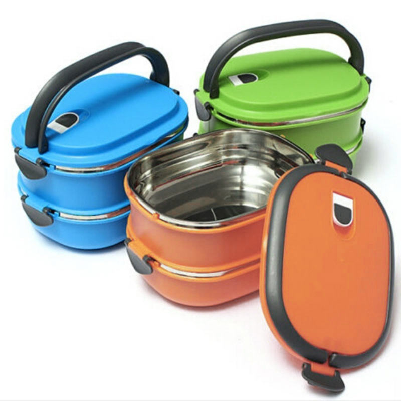 New Multilayer Stainless Steel Insulation Thermal Lunch Bento Box Food Container For Kids Picnic Bolsa Termica