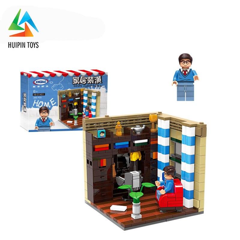 6Pcs/Set XINGBAO Building Blocks 01401 A-F Home Furnishing Series Creative City Compatible легоe Children Toys Bricks 1