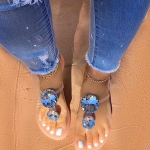 Summer Woman Crystal Slippers