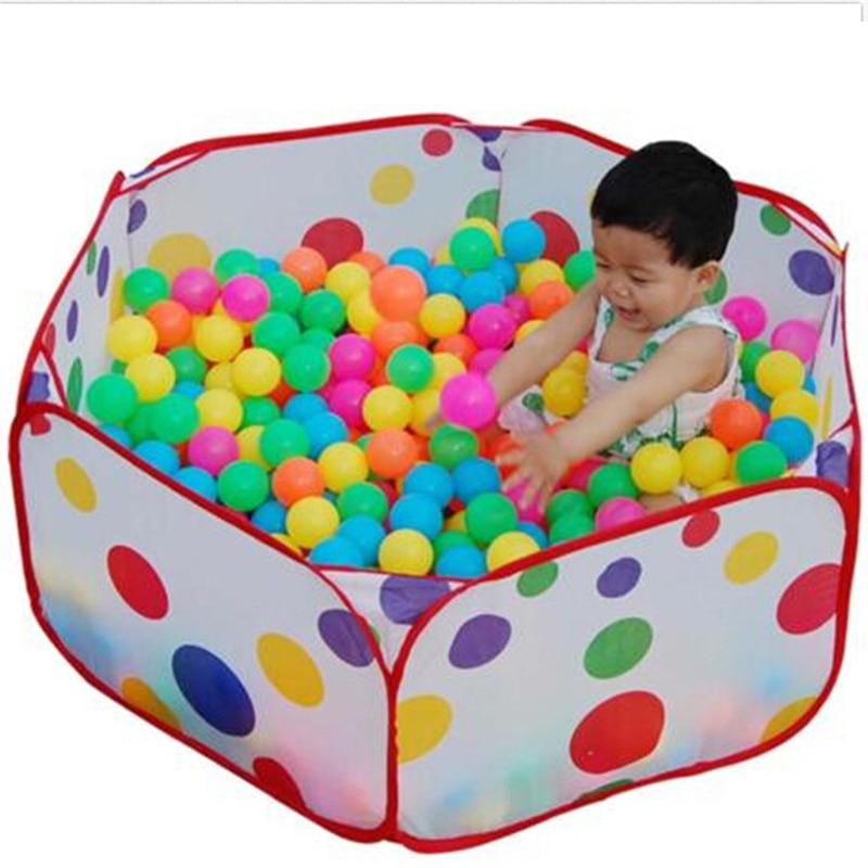 1 м складной детский Океанский мяч, игровой бассейн, Игровая палатка для кемпинга, для улицы, для помещений, спортивные развивающие игрушки