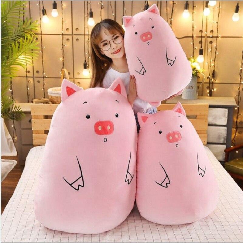 bonito porco boneca meninas cama segurando uma 05