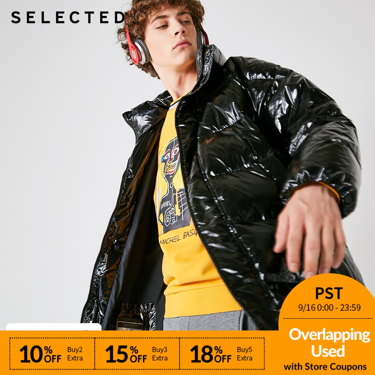 SELECTED Winter   Down   Jacket New Men's Large Profile Medium-Long   Down   Clothes Suit Bread Male   Coat   S | 418412563