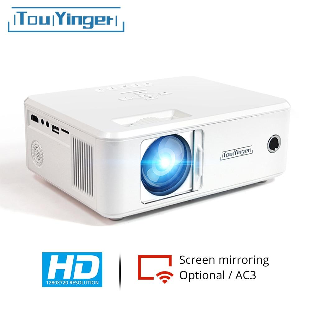 TouYinger X21 X20 брендовый Мини проектор светодиодный проектор 1280*720 HD зеркальная Поддержка full hd видео LCD телевизор 2021 портативный домашний киноте...