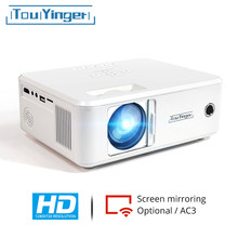 Touyinger x21 x20 marca mini projetor led beamer 1280*720 hd espelhamento suporte completo hd vídeo lcd tv 2021 portátil casa teatro