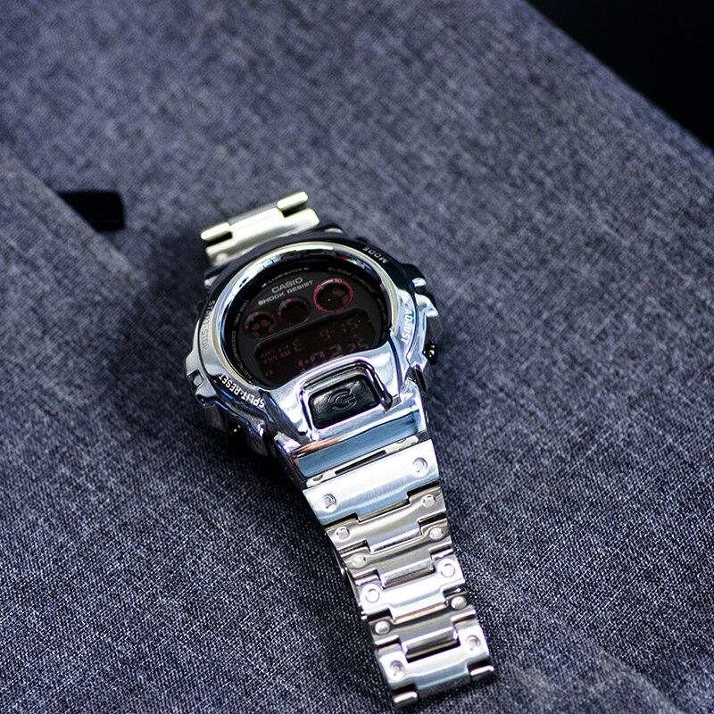 Bracelet de montre en acier inoxydable 316L pour boîtier de montre à Modification métallique Casio pour accessoires g-shock pour DW-6900 DW 6930/6935