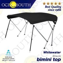 Oceansouth Whitewater Bimini 1.3 2.3m 25mm Aluminium Tube Marine Grade Boat cover Top Canopy Water Sun proof UV Protection Black