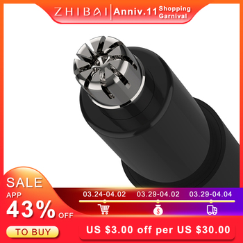 ZHIBAI Electric Nose Hair Trimmers Mini Portable Ear Nose Trimmer Black Waterproof IPX7 Safe Removal Cleaner 1