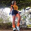 Novo pro macaquinho ciclismo feminino senhoras de manga curta camisa de ciclismo terno geral triathlon mountain bike camisa shorts 7