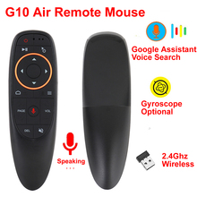 G10 אוויר עכבר 2.4GHz אלחוטי קול שלט רחוק IR למידה 6 ציר גירוסקופ תמיכה גוגל עוזר קול חיפוש BOX הטלוויזיה
