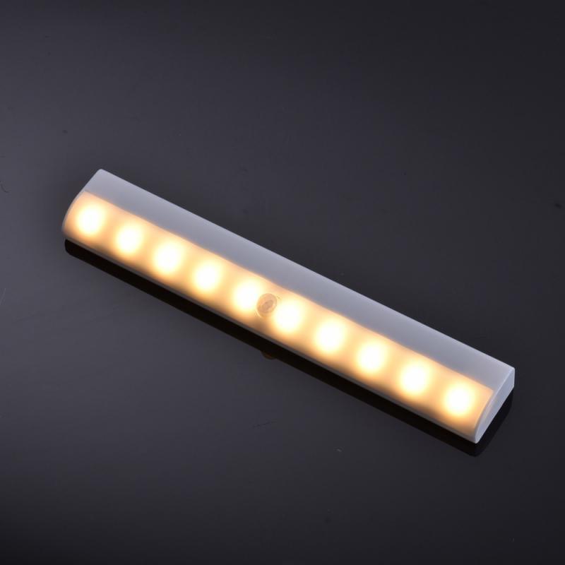 Wireless Sensor LED Under Cabinet Light PIR Motion Sentor LED Night Light Home Stair Wardrobe Bed