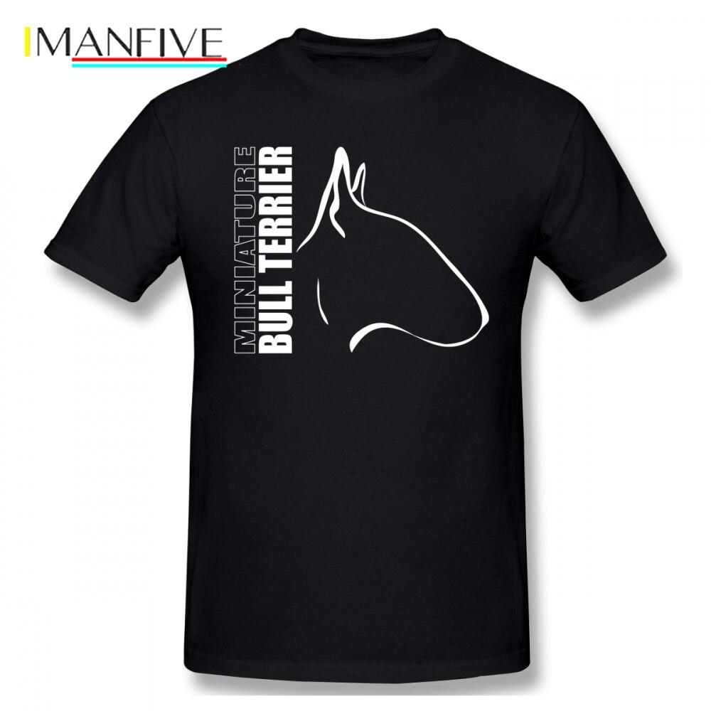 Simple Bull Terrier Men T Shirt Hip Hop Online Big Size Cotton Short Sleeve Men's Clothes