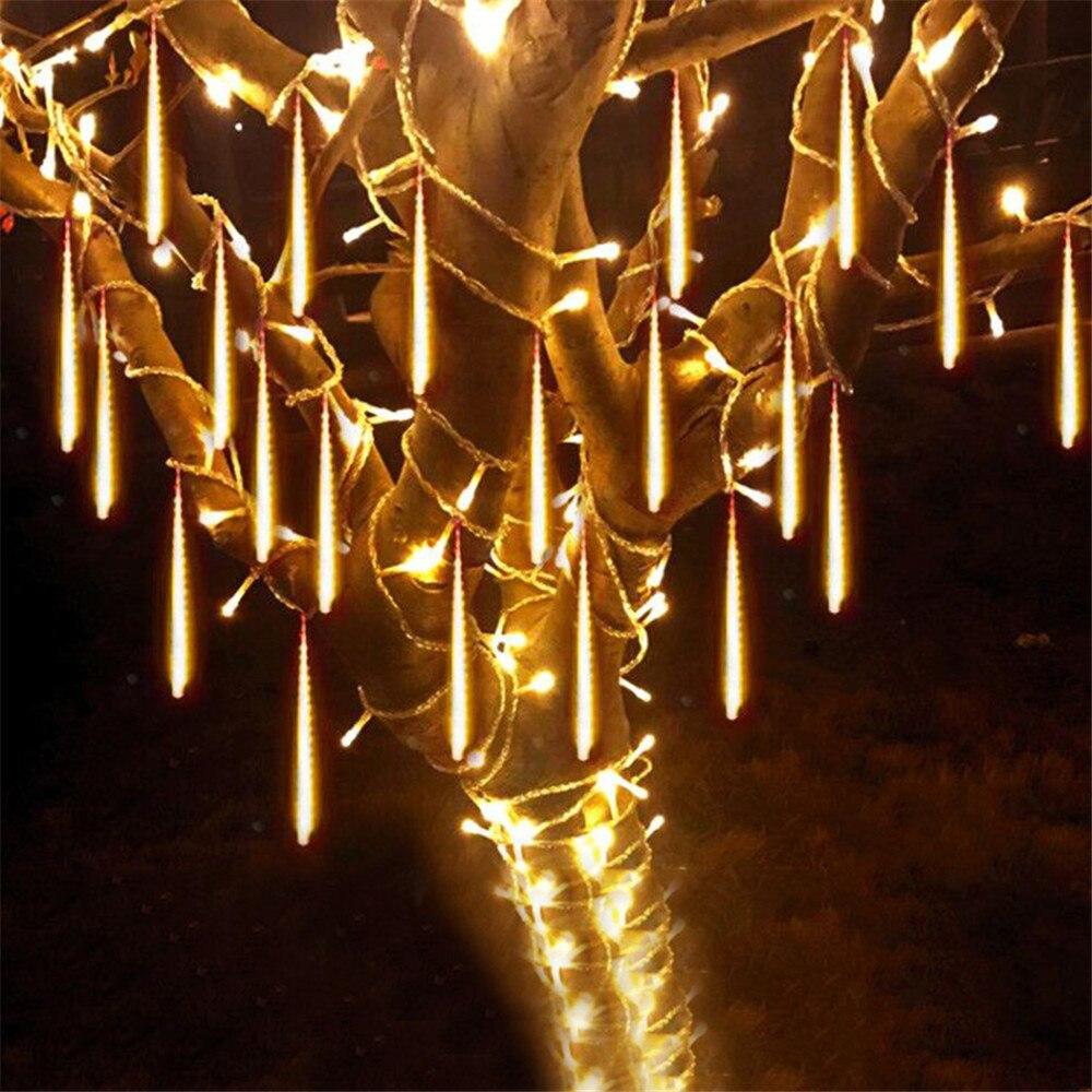 8 шт./компл. Метеоритный Дождь светодиодный трубки Водонепроницаемый 110V 220V светодиодный Рождественские светильник s Свадебная вечеринка