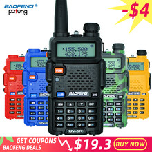 Baofeng UV-5R Walkie Talkie Profesional CB Stasiun Radio Baofeng UV5R Transceiver 5W VHF UHF Portable UV 5R Berburu Ham radio(China)