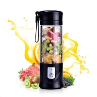 Portable Mini Travel Fruit USB Juicer Cup  Personal Small Electric Juice Mixer Blender Machine With 4000mah Rechargeable Battery