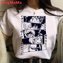 Anime japonês meu herói academia t camisa feminina boku nenhum herói academia dos desenhos animados camiseta engraçado himiko toga camisetas gráficas unisex