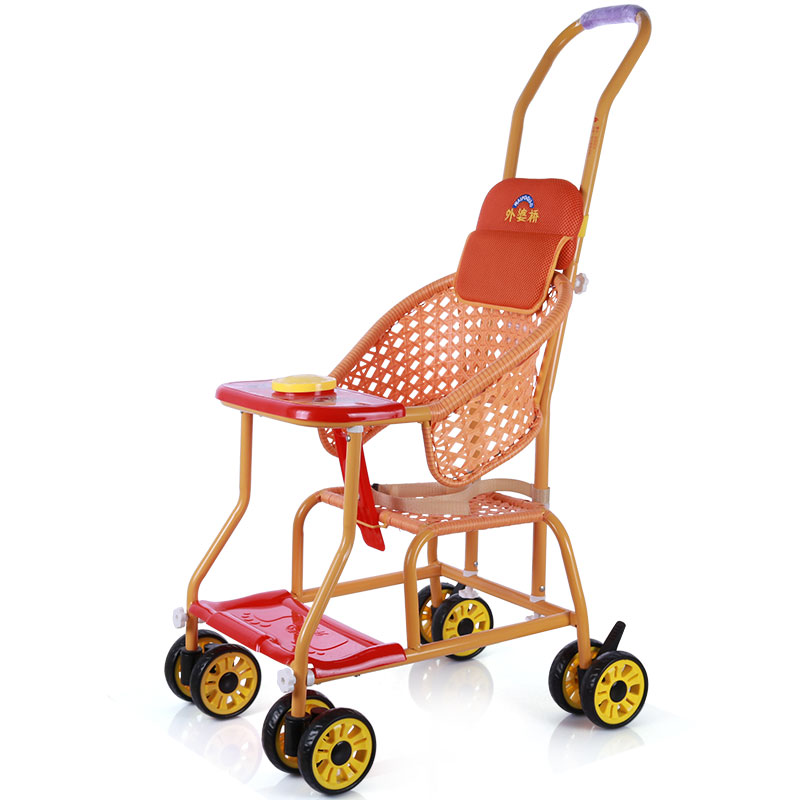 Waipoqiao Rattan Chair Summer Baby Stroller Bamboo Rattan Baby Portable Rattan Breathable Summer Simple Stroller