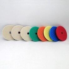 Tampons de polissage en éponge, 6/7 pouces, 8 pièces, Kit de polissage, 25mm dépaisseur, Europe, pour polisseuse RO/DA