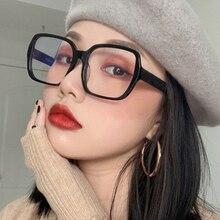 2021 большой круглый прозрачный модный очки ретро тренд дизайнер очки оправа женский черный розовый очки оправа