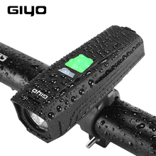GIYO T6 LED Bicycle Light Waterproof Flashlight USB Rechargeable Light Bicycle Headlight MTB Bicycle Light Front Handlebar Light uranusfire usb rechargeable bike light front handlebar cycling led light battery flashlight torch headlight bicycle light