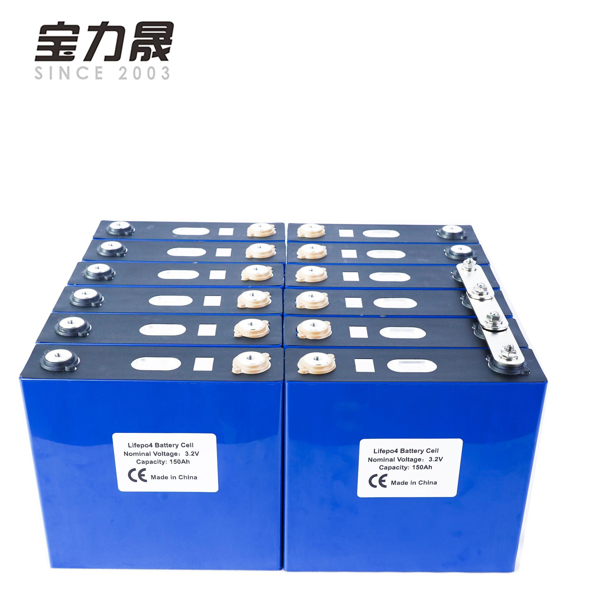 12 pièces 3.2V150Ah 2019 nouveau Lithium fer Phosphate cellule lifepo4 batterie solaire 24V300AH 48V96V150Ah cellules pas 120Ah EU US sans taxe