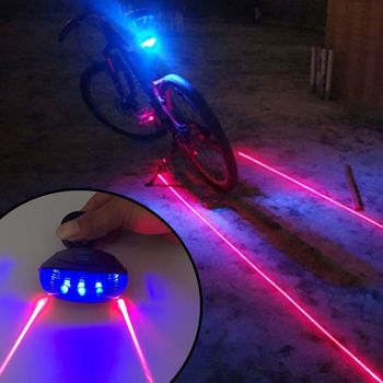 Bicycle Laser Lights Waterproof Bike Tail Light Road Cycling LED Flashing Lamp Tail Light Rear Bicycle Cycling Safety Warning 1