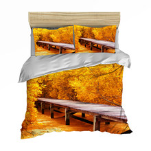 3D Print Duvet Cover Set, Maple forest/beach by the sea Set Blue Sea 3/4pcs Bedspreads Teens kid bedlinens(China)