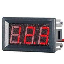 """2 провода Мини Универсальный Автомобильный Цифровой вольтметр Индикатор детектора 0,5"""" Красный светодиодный дисплей Панель автоматический измеритель напряжения вольт датчик постоянного тока 4,5-30 в"""
