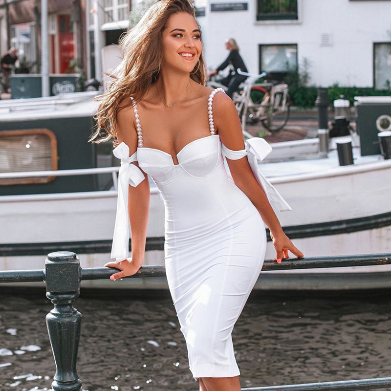 <font><b>bandage</b></font> pencil <font><b>dress</b></font> going out <font><b>black</b></font> white off the shoulder bodycon <font><b>sexy</b></font> formal dinner <font><b>dresses</b></font> for women party club fashion new image