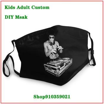 New Coming Vintage mascarilla lavable DJ Bruce Lee Kongfu face mask fashion mascarillas de tela lavables con filtro