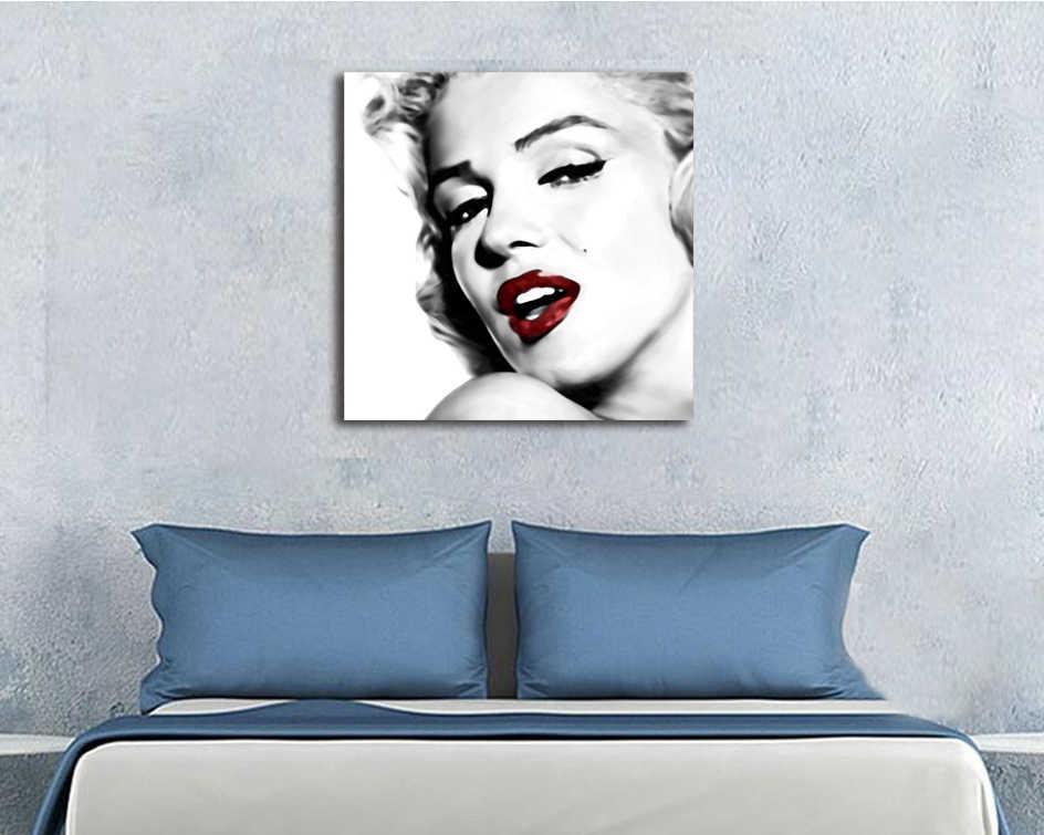 Fait à La Main Marilyn Monroe Mur Toile Peinture Mur Art