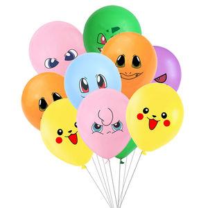 Pokemon go 10 Pcs/lot 12 inch Picachu balloon birthday party decorations kids room decoration balloons boys birthday baby shower(China)