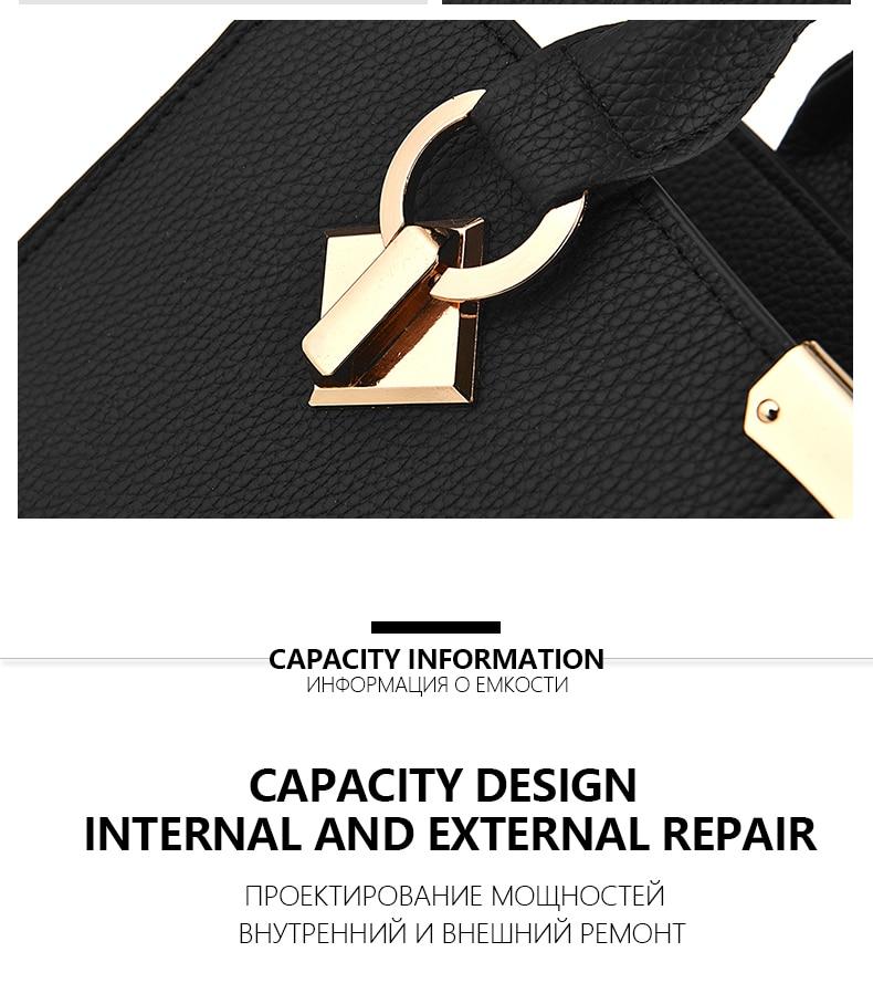 Designer Brand Bags Ladies Leather Tote Bag 2020 Luxury Ladies Handbag Wallet Fashion Shoulder Bag 4