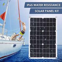 Panel Solar Flexible de 30w con controlador, cargador Solar para coche, RV, barco, pantalla LCD, PWM, 10/20/30/40/50A, 9V/18V