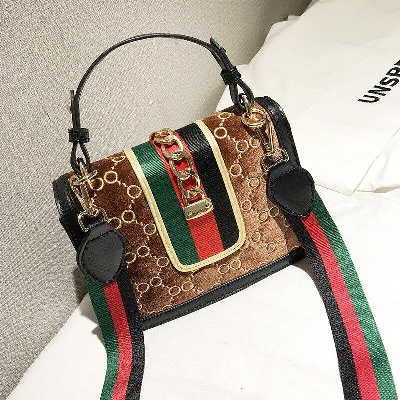 Female Skull Clutch Velour Women's Bag Rivet Chain Messenger Shoulder Bags Famous Brand Women Luxury Handbag 2020 Designer