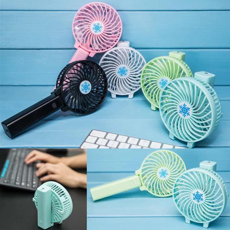 Ręczny mini wentylator chłodnicy ręczny USB ładowanie miniwentylator biurkowy akumulator ABS przenośny do biura na zewnątrz gospodarstwa domowego podróży