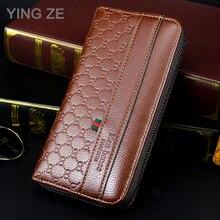 MenBense Leather Zipper Men Clutch Bag Luxury Wallet Carteir