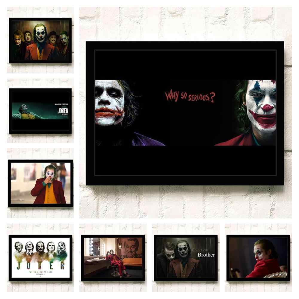 Joker 2019 Joaquin Phoenix Heath Ledger DC Movie Comics Wall Art Painting Print On Canvas Living Room Poster Pictures Home Decor