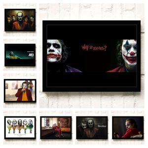 Joker 2019 Joaquin Phoenix Heath Ledger DC Movie Comics Wall Art Painting Print On Canvas Living Room Poster Pictures Home Decor(China)