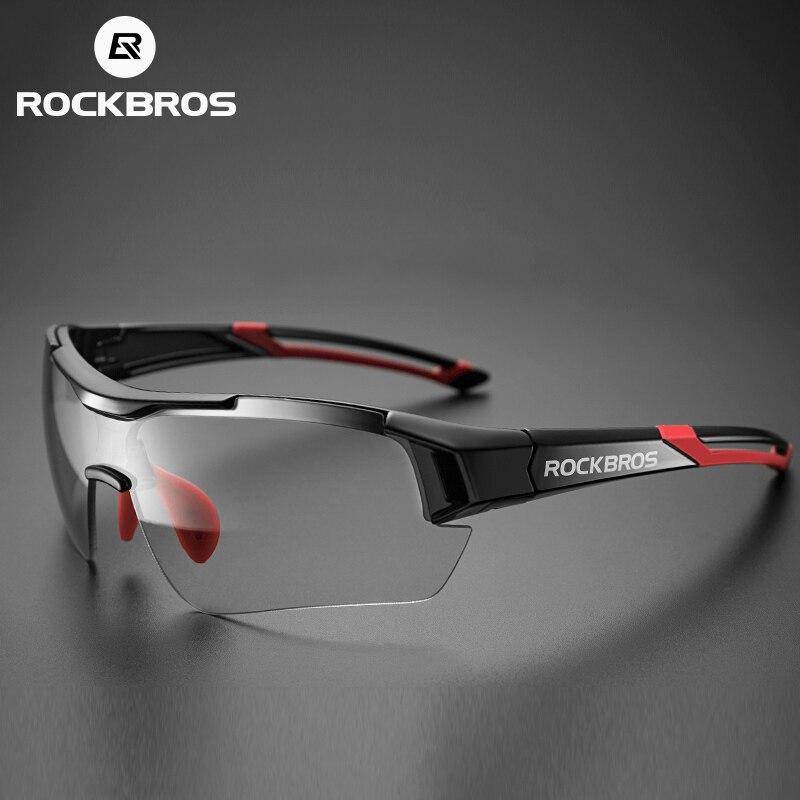 ROCKBROS Photochromic רכיבה על אופניים משקפיים אופניים חיצוני ספורט משקפי שמש שינוי צבע משקפיים MTB כביש אופני משקפי אופני משקפי