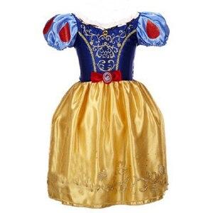 Image 4 - Summer Girls Dress Costume Kids Belle Sofia Sleeping Beauty Princess Dress Children Halloween Party Dress Up