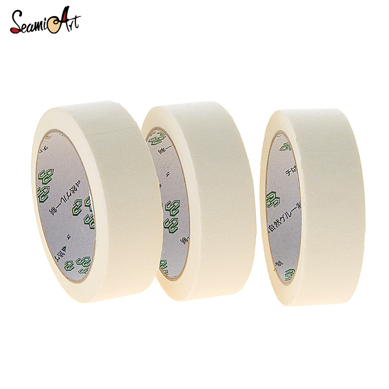 12/18/24mm 20m Long Masking Tape Beige Color Car Spraying Single Side Adhesive Tape for Car House Oil Painting Sketch Wholesale