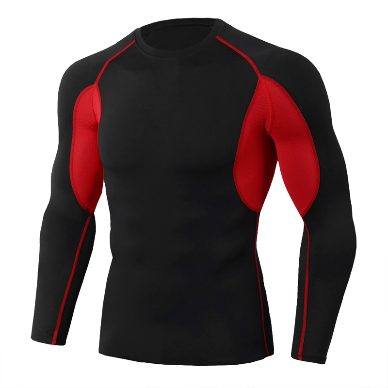 Men Sports Shirt Base Layer Athletic Attire Long Sleeve Compression Thermal Fits|Cycling Base Layers| |  - title=