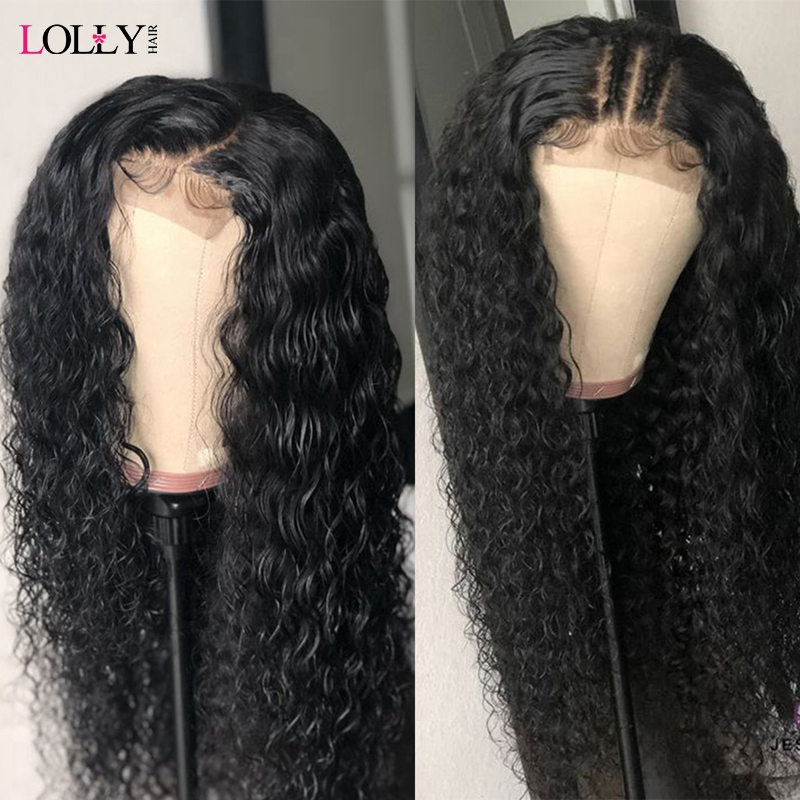 Lolly Lace Front Human Hair Wig 13x4 13x6 150% Remy Malaysian Lace Frontal Curly Human Hair Wigs For Black Women Pre Plucked