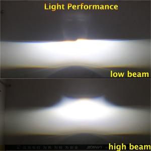 Image 5 - SANVI 2PC 3 Cal samochód Bi obiektyw LED projektora reflektor 55w 5500K Auto Ice lampa akcesoria do świateł samochodowych reflektor motocyklowy