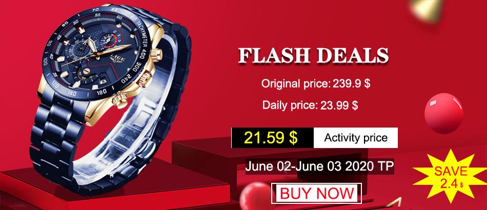 LIGE 2020 nuevos relojes de moda para hombre con Acero Inoxidable marca superior de lujo deportes cronógrafo reloj de cuarzo hombres Relogio Masculino 1