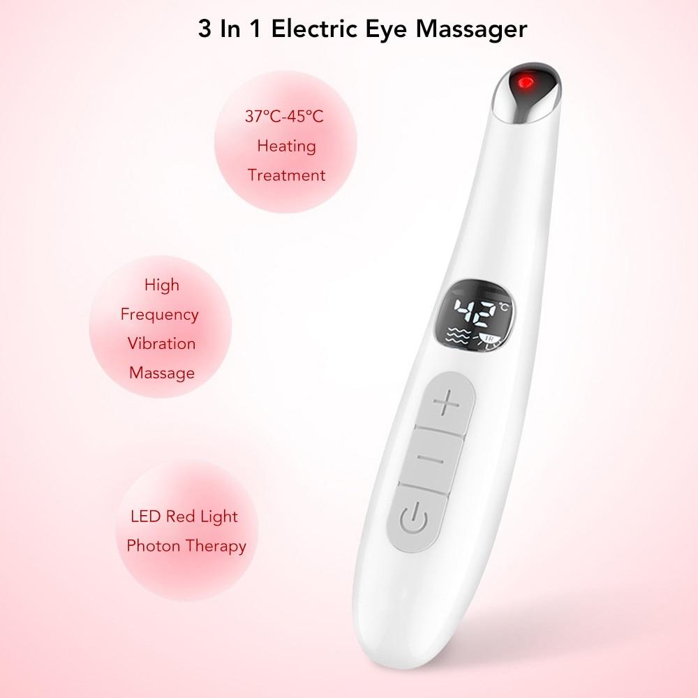 3in1 elétrica olho massageador ajustável usb recarregável