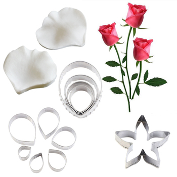 Rose & Flower Petal Veiner Silicone Mold Fondant Mould Cake Decorating Tools Chocolate Gumpaste,Sugarcraft Mold CS202 ttlife 3d daisy flower shape silicone mold pastry cupcake chocolate soap bakeware mould fondant cake sugarcraft decoration tools