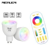 Mi.light 2.4G Dimmable LED Spotlight 5W GU10 LED Bulbs Lamp  AC 85V-265V  RF Remote Control Smart Wireless Led Light