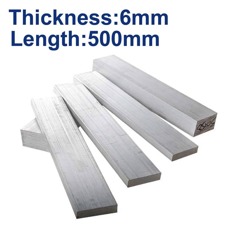 6061 Aluminum Plate 6mm,width 10mm To 160mm,length 500mm